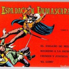 Tebeos: EL ESPADACHIN ENMASCARADO. TOMO 5. REEDICION. COMPRENDE LOS NUM. 17 AL 20. Lote 147331064