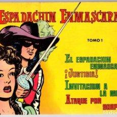 Tebeos: EL ESPADACHIN ENMASCARADO. TOMO 1. REEDICION. COMPRENDE LOS NUM. 1 AL 4. Lote 147331386