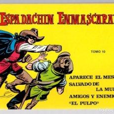 Tebeos: EL ESPADACHIN ENMASCARADO. TOMO 10. REEDICION. COMPRENDE LOS NUM. 37 AL 40. Lote 147331832