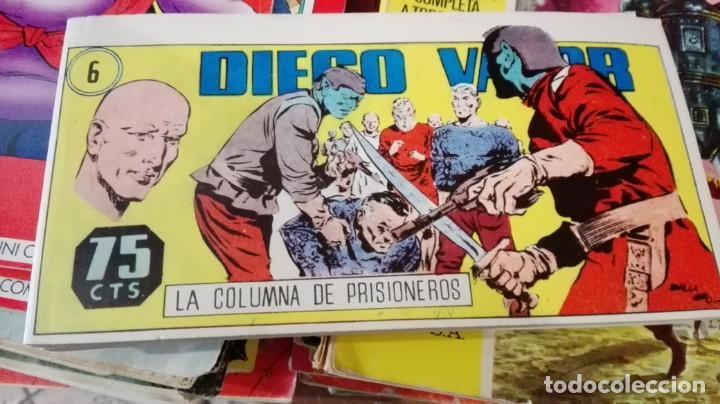 DIEGO VALOR. Nº 6. LA COLUMNA DE PRISIONEROS. REEDICION. IBERCOMIC-MAN, 1986 (Tebeos y Comics - Tebeos Reediciones)