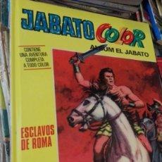 Tebeos: COMIC EL JABATO COLOR. ESCLAVOS DE ROMA-ALBUM EL JABATO TAPA DURA. Lote 165167618