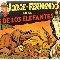 Tebeos: AVENTURAS DE JORGE Y FERNANDO EN EL PAÍS DE LOS ELEFANTES ALBUM Nº 1. Lote 165609490