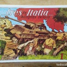 Giornalini: HAZAÑAS BÉLICAS - Nº 7, TRES EN ITALIA. Lote 165610146