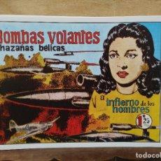 Giornalini: HAZAÑAS BÉLICAS - Nº 8, BOMBAS VOLANTES. Lote 165610298