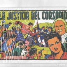 Tebeos: LA JUSTICIA DEL CORSARIO. MÍLTON EL CORSARIO - SEGUNDA MANO. Lote 50235547