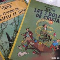 Livros de Banda Desenhada: LAS AVENTURAS DE TINTÍN - LOTE 3 EJEMPLARES DUODÉCIMA EDICIÓN - HERGE. Lote 173101487