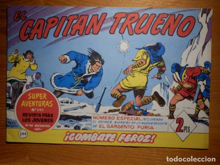 EL CAPITAN TRUENO -SUPER AVENTURAS Nº 595 - Nº 294 ¡ COMBATE FEROZ ! - REEDICIÓN EDICIONES B (Tebeos y Comics - Tebeos Reediciones)