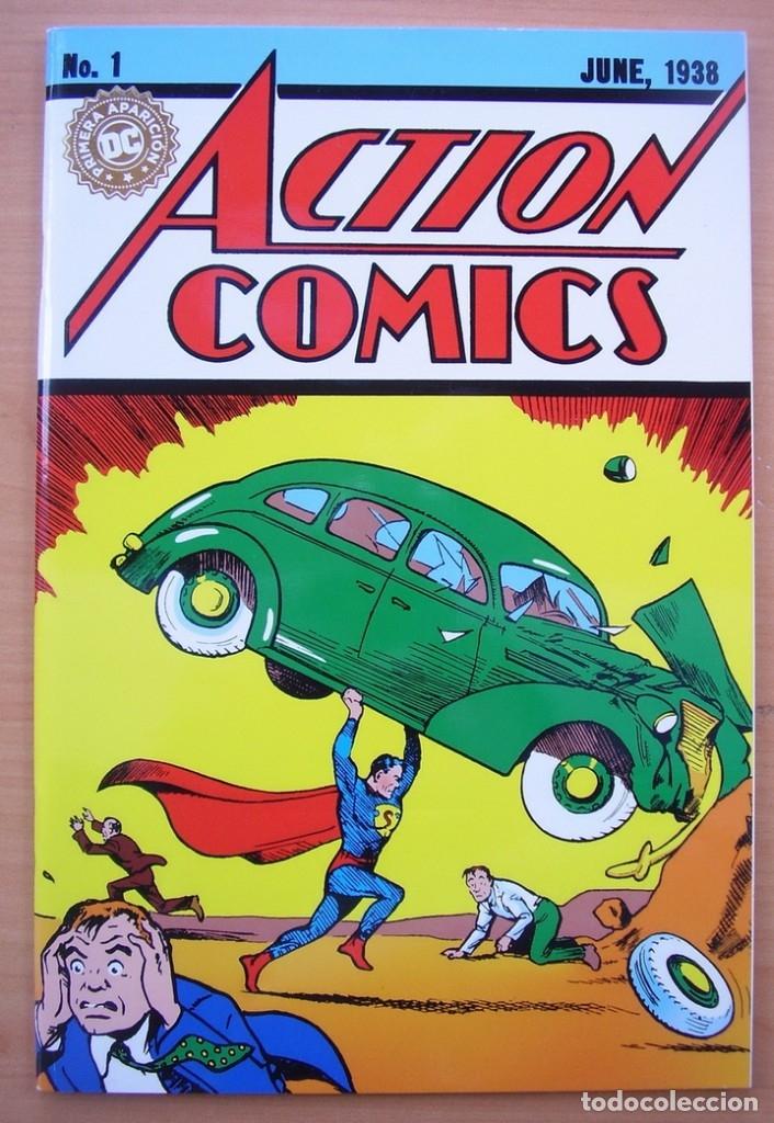 ACTION COMICS NUMERO 1 COMPLETO EN ESPANOL SUPERMAN JERRY SIEGEL JOE SHUSTER DC (Tebeos y Comics - Tebeos Reediciones)