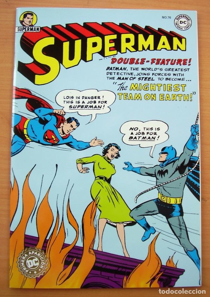 SUPERMAN BATMAN JUNTOS PRIMERA APARICION COMIC EN ESPANOL DC JERRY SIEGEL BOB KANE (Tebeos y Comics - Tebeos Reediciones)