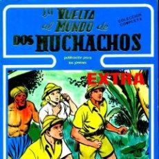 Tebeos: LA VUELTA AL MUNDO DE DOS MUCHACHOS (URSUS, 1982) DE BOIXCAR. TOMO CON LA COLECCIÓN COMPLETA. Lote 187543420
