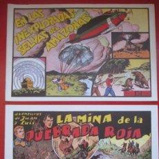 BDs: LOTE 11 TEBEOS AVENTURAS DE JUAN Y LUIS REEDICION VER NUMEROS . Lote 193082528