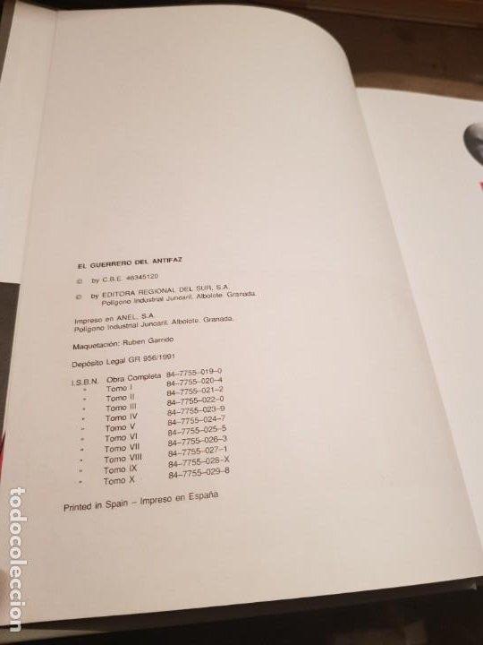 Tebeos: COLECCIÓN COMPLETA NUEVA 10 TOMOS ¡MIRAR ENVÍO! EL GUERRERO DEL ANTIFAZ TEBEOS CÓMIC FACSÍMIL 1991 - Foto 4 - 194119445