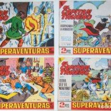 Tebeos: 4 TEBEOS EL CAPITAN TRUENO - COLECCION SUPERAVENTURAS - Nº 445 - 448 - 458 - 526. Lote 195148532