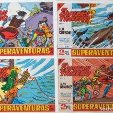 Tebeos: 4 TEBEOS EL CAPITAN TRUENO - COLECCION SUPERAVENTURAS - Nº 450 - 500 - 501 - 511. Lote 195148775