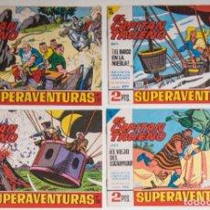 Tebeos: 4 TEBEOS EL CAPITAN TRUENO - COLECCION SUPERAVENTURAS - Nº 446 - 466 - 474 - 499. Lote 195148848