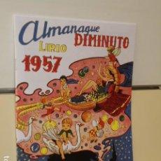 Tebeos: ALMANAQUE DIMINUTO LIRIO AÑO 1957 - NUEVA REEDICION 2020. Lote 195232990