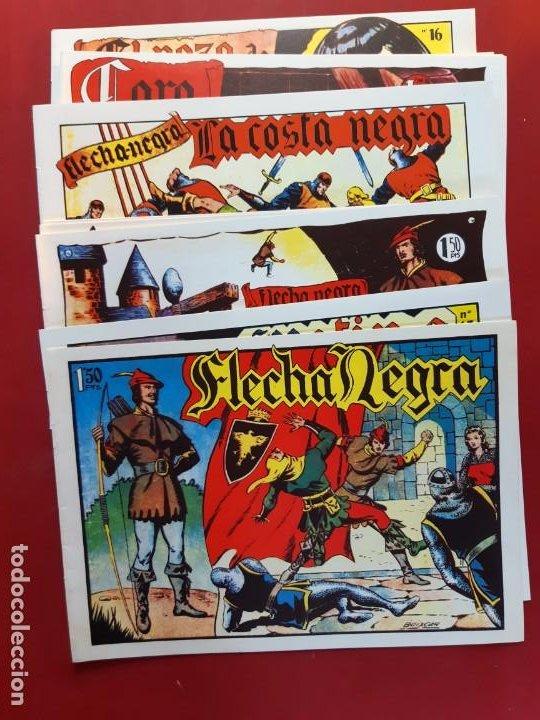 FLECHA NEGRA COMPLETA 23 NÚMEROS IMPECABLE (Tebeos y Comics - Tebeos Reediciones)