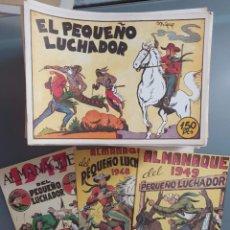 Tebeos: EL PEQUEÑO LUCHADOR COMPLETA 230 NUMEROS + 3 ALMANAQUES. Lote 207327102