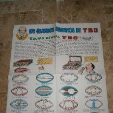 Tebeos: POSTER LOS GRANDES INVENTOS DE TBO - FRANZ DE COPENHAGUE - EDICIONES B 1990. Lote 209735918
