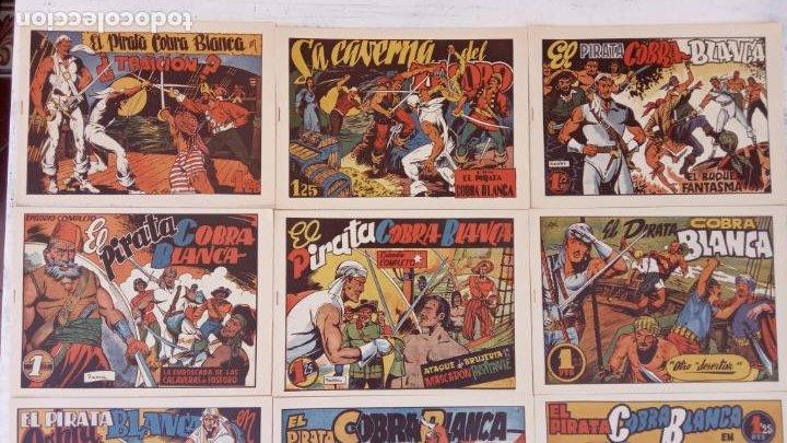 Tebeos: EL PIRATA COBRA BLANCA COMPLETA 1 AL 12 - nueva papel reciclado no blanco - ver todas las portadas - Foto 4 - 209883110
