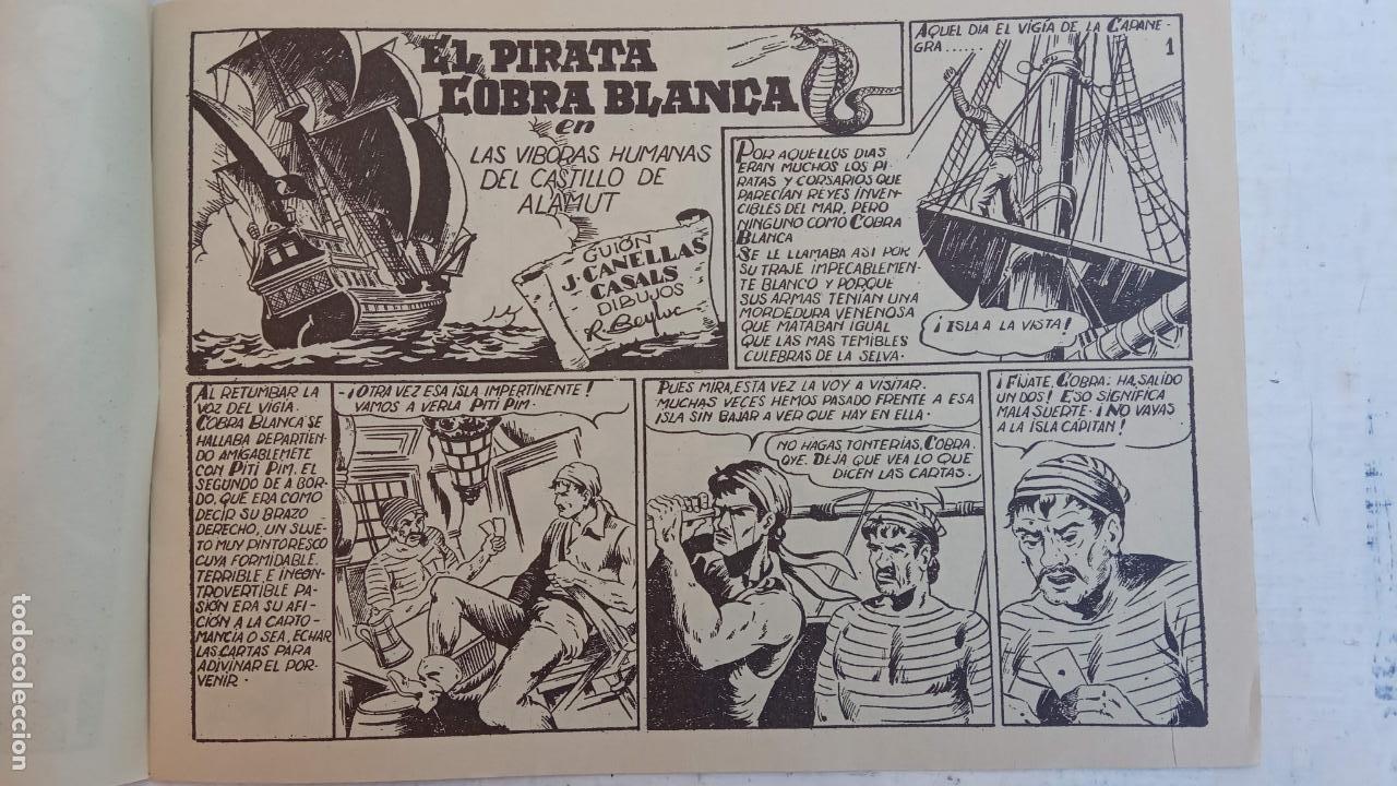 Tebeos: EL PIRATA COBRA BLANCA COMPLETA 1 AL 12 - nueva papel reciclado no blanco - ver todas las portadas - Foto 6 - 209883110