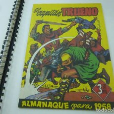 Tebeos: FACSIMIL ALMANAQUE CAPITAN TRUENO 1958. Lote 210824420