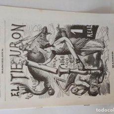 Tebeos: EL TIBURON ALMANAQUE HUMORISTICO PARA 1868 FACSIMIL DEL ORIGINAL DE LOPEZ EDITOR - BARCELONA.. Lote 211702198