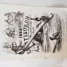 Tebeos: EL TIBURON ALMANAQUE HUMORISTICO PARA 1866 FACSIMIL DEL ORIGINAL DE LOPEZ EDITOR - BARCELONA.. Lote 211702259