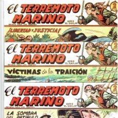 Tebeos: * TERREMOTO MARINO * MAGA * REEDICION Nº 1 - 2 - 3 * FASCIMILES IMPECABLES *. Lote 211911341