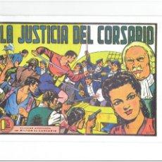 Tebeos: * MILTON EL CORSARIO * FASCIMIL-REEDICION * AÑO 1956-FORMATO GRAPA-Nº 5 * LA JUSTICIA DEL CORSARIO *. Lote 211932953