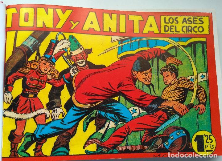 Tebeos: TONI Y ANITA - LOS ASES DEL CIRCO - MAGA - TEBEOS DEL 1 AL 48 - ENCUADERNADOS EN DOS TOMOS - Foto 4 - 217753450