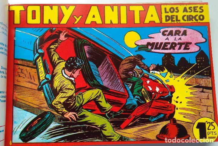 Tebeos: TONI Y ANITA - LOS ASES DEL CIRCO - MAGA - TEBEOS DEL 1 AL 48 - ENCUADERNADOS EN DOS TOMOS - Foto 5 - 217753450