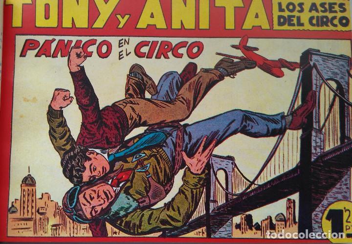 Tebeos: TONI Y ANITA - LOS ASES DEL CIRCO - MAGA - TEBEOS DEL 1 AL 48 - ENCUADERNADOS EN DOS TOMOS - Foto 8 - 217753450