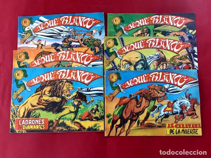 JEQUE BLANCO Nº 1-2-3-4-5-6 -FACSIMIL (Tebeos y Comics - Tebeos Reediciones)