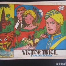 Tebeos: VICTOR TRICE (1953, GRAFIDEA) + CAPITAN ENIGMA, EL (1946, MARCO) FACSIMILES. Lote 220768116