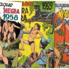 Tebeos: ALMANAQUES PANTERA NEGRA 1958,1959 Y 1960. FACSÍMILES. NUEVOS.. Lote 222595692
