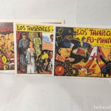Tebeos: LOS TAMBORES DE FU-MANCHÚ - SELECCIÓN AVENTURERA - VALENCIANA 1943, COMPLETA 3 EJEMPLARES REEDICION. Lote 222649088