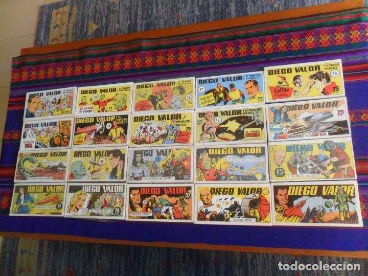 DIEGO VALOR COMPLETA 20 TOMOS. IBERCOMIC-MAN 1986. FACSÍMIL DE LA COLECCIÓN ORIGINAL DE 124 CÓMICS. (Tebeos y Comics - Tebeos Reediciones)