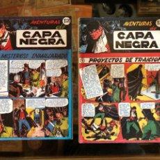 Tebeos: AVENTURAS DE CAPA NEGRA - COMPLETA 2 TOMOS - REEDICIÓN. Lote 226463525