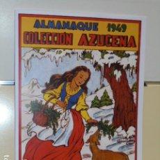 Tebeos: ALMANAQUE COLECCION AZUCENA AÑO 1949 - REEDICION. Lote 244532875