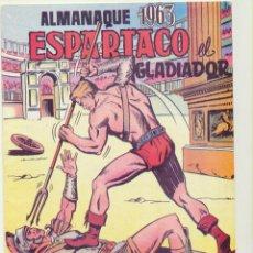 Tebeos: ESPARTACO. ALMANAQUE 1963. REEDICIÓN. Lote 236493630