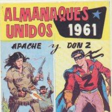 Tebeos: ALMANAQUES UNIDOS 1961. APACHE Y DON Z. REEDICIÓN. Lote 236493745