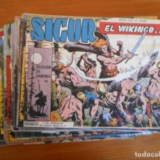 Giornalini: SIGUR EL WIKINGO - EL VIKINGO - COMPLETA - 33 NUMEROS - REEDICION (BV). Lote 247107620