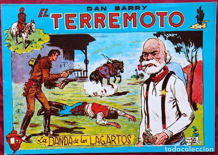 DAN BARRY . EL TERREMOTO - LA BANDA DE LOS LAGARTOS - J. ORTIZ - (Tebeos y Comics - Tebeos Reediciones)