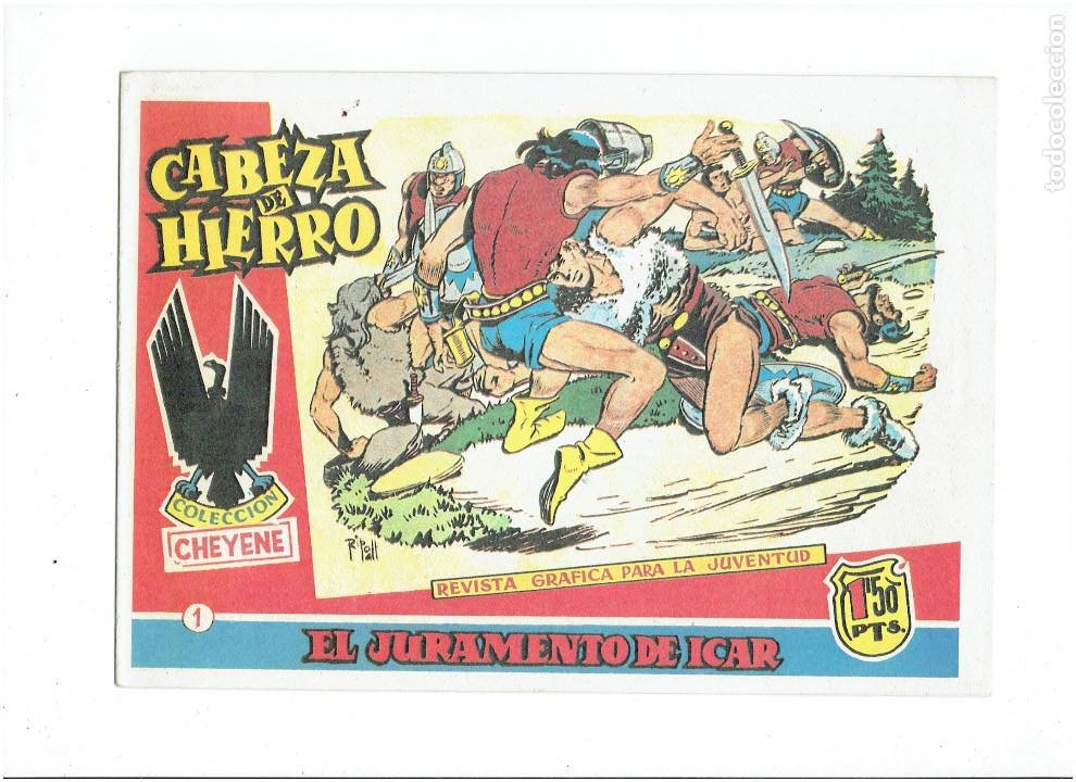 Tebeos: * CABEZA DE HIERRO * COMPLETA 13 NUMEROS * REEDICION IMPECABLE * - Foto 3 - 254088365