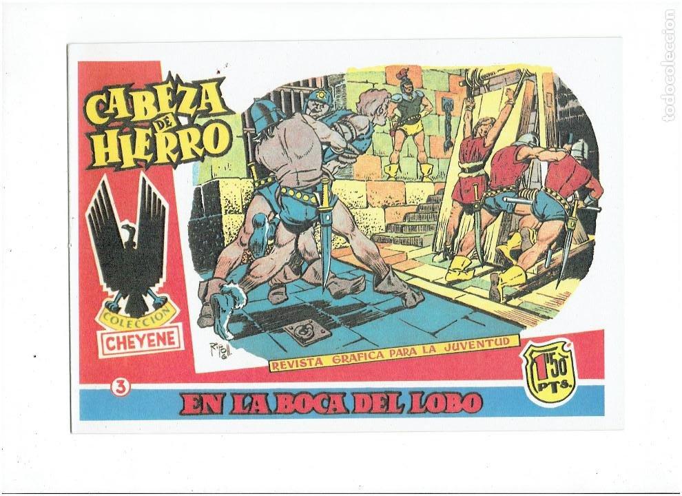 Tebeos: * CABEZA DE HIERRO * COMPLETA 13 NUMEROS * REEDICION IMPECABLE * - Foto 5 - 254088365