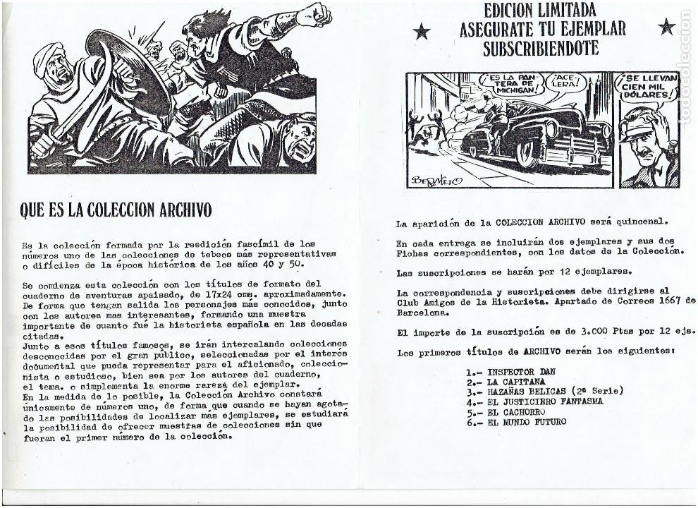 Tebeos: * COLECCION ARCHIVO C.A.H. * COMPLETA 1ª SERIE 18 NUMEROS * REEDICION IMPECABLE * - Foto 23 - 254200185