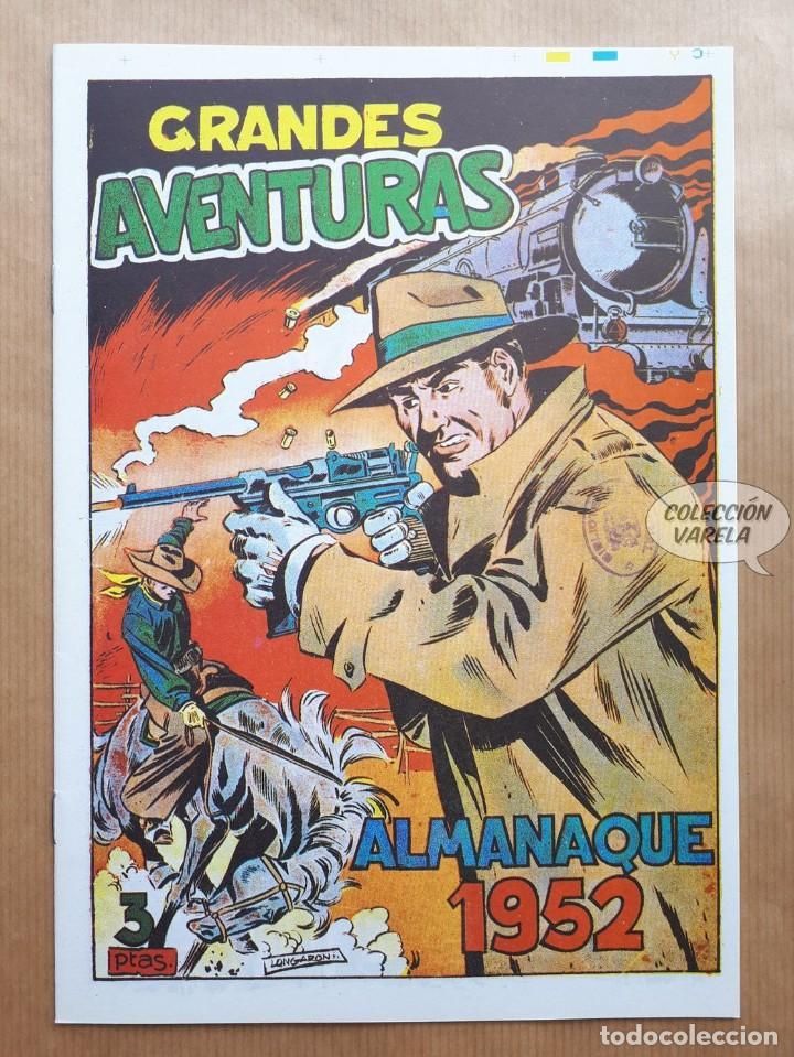 GRANDES AVENTURAS - ALMANAQUE 1952 - REEDICIÓN (Tebeos y Comics - Tebeos Reediciones)