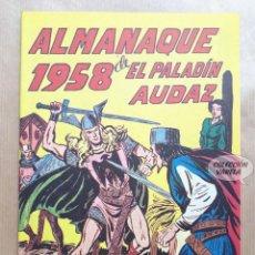 Tebeos: ALMANAQUE DE EL PALADÍN AUDAZ - 1958 - REEDICIÓN. Lote 257679875