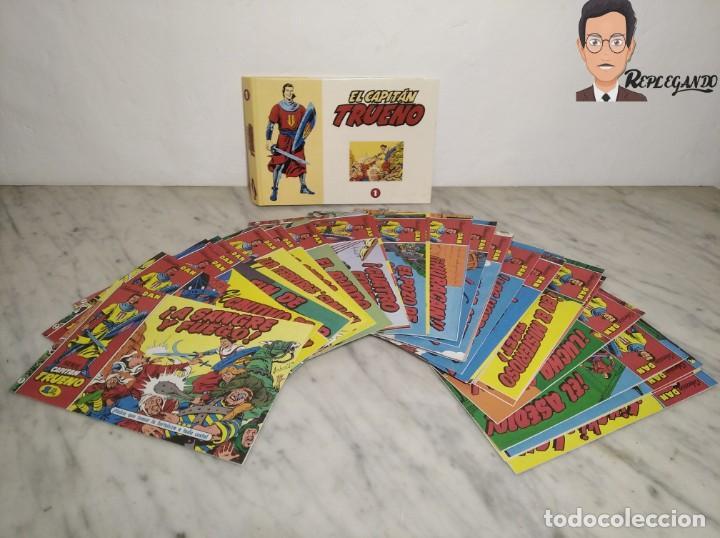 EL CAPITÁN TRUENO FACSÍMIL 32 NÚMEROS FACSÍMIL REEDICIÓN 1997 EL PERIÓDICO (Tebeos y Comics - Tebeos Reediciones)